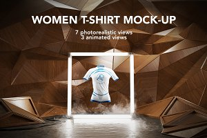 Women T-shirt Mock-up / Animated