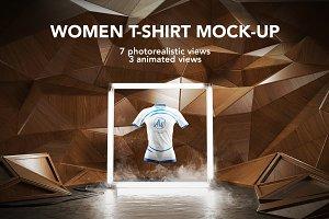 Women T-shirt Mock-up / Animated