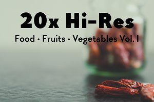 20x Food, Fruits, Vegetables Vol. I