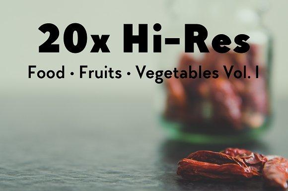 20x Food, Fruits, Vegetables Vol. I - Objects