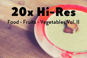 20x Food, Fruits, Vegetables Vol. II