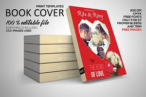 Wedding Book Cover Print Template