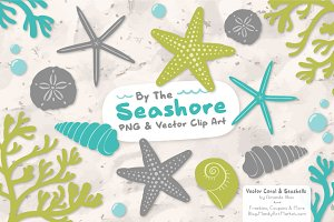 Seashells Clipart in Land & Sea