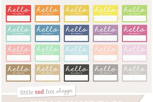 Hello Name Tag Clipart