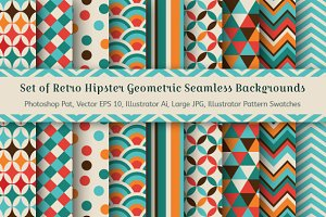9 Geometric Seamless Backgrounds