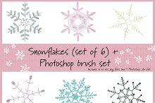 Snowflake set w/Photoshop brushes