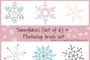 Snowflake set w/Photoshop brushes