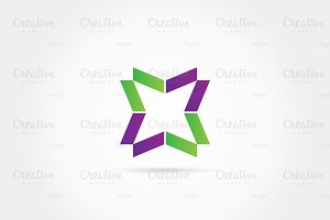 Abstract Four Star Logo