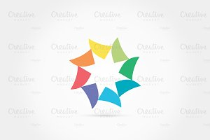 Abstract colorful triangle logo