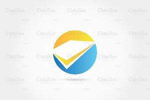 Circle book paper collection logo