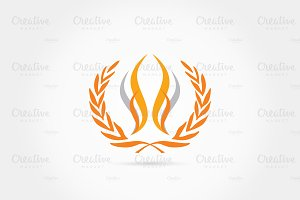 Corn leaves logo