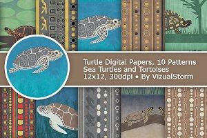 Sea Turtle Tribal Tortoise Patterns