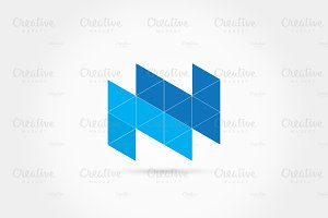 Double Uppercase NN triangles logo