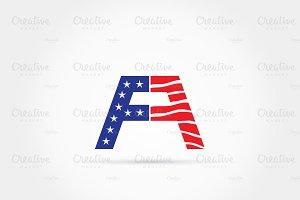 FA Letter Flag Logo