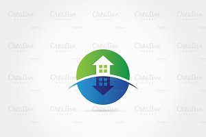 Shadowed green home logo