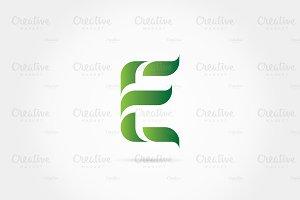 green letter e leaves logo