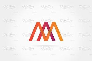 Letter A M simple logo