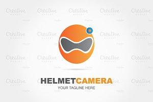 Modern camera helmet logo