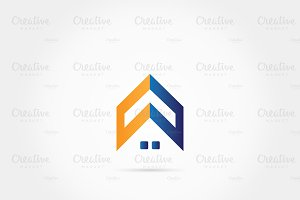Home roof house logo