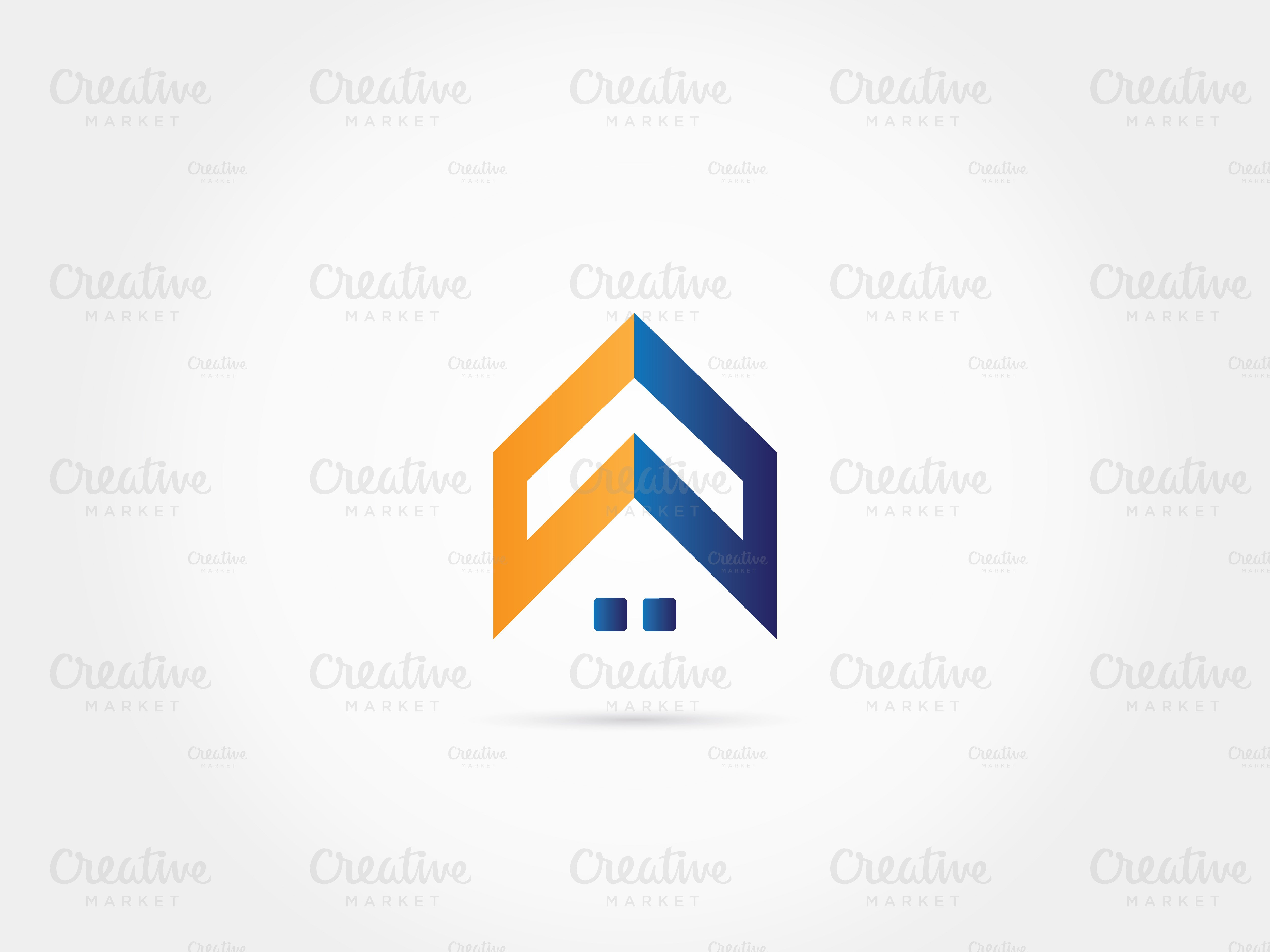 Home roof house logo ~ Logo Templates ~ Creative Market