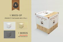 Mock-Up Product Package Box Vol.1