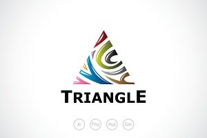 Rainbow Triangle Logo Template