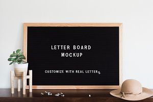 Felt Letter Board Mockup PSD