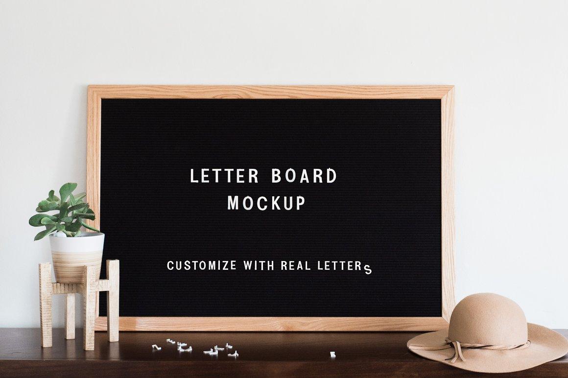 Felt Letter Board Mockup PSD - Product Mockups