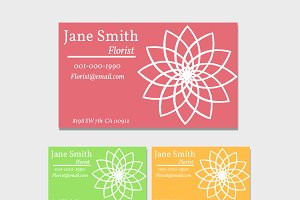 Florist Business Card Template 3Pack