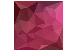Begonia Pink Abstract Low Polygon