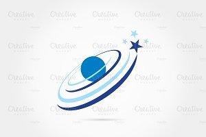 Satellite galaxy logo