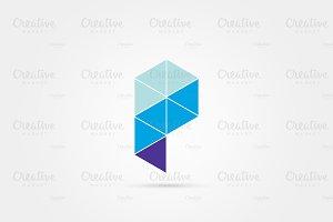 P letter minimal logo