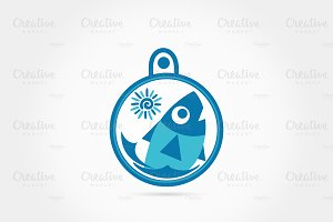 Fun timer fish logo