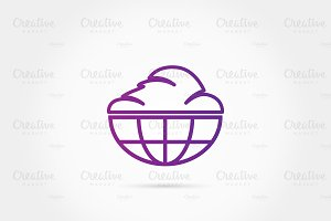 World cloud logo