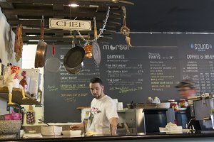 Chef cooking at Morsel Seattle