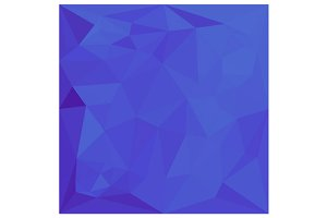 Bluebonnet Abstract Low Polygon
