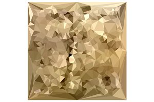 French Beige Abstract Low Polygon