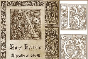 Hans Holbein Alphabet & Illustration