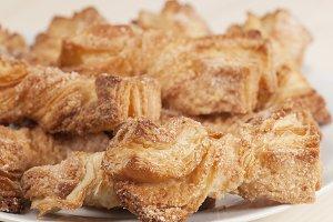 Crumpets with sugar