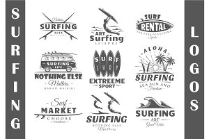 9 Surfing Logos Templates Vol.2