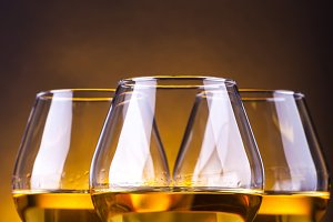 Three brandy glasses