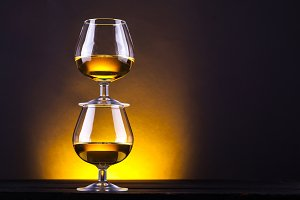Brandy glass tower