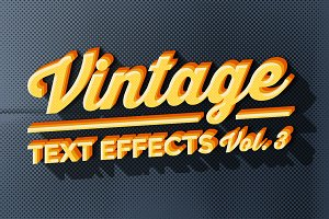 Vintage Text Effects Vol.3