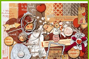 Adorable Elves :: full scrapbook kit
