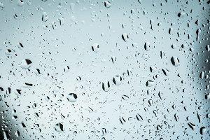 Raindrops in a window