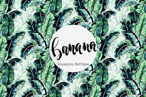 Banana Leaf Tropical Pattern