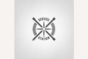 Tires Shop & Service Station Logo