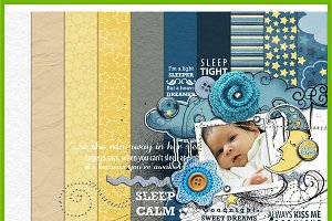 Sleep tight :: Full scrapbook kit