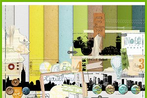Let's Travel :: Full scrapbook kit