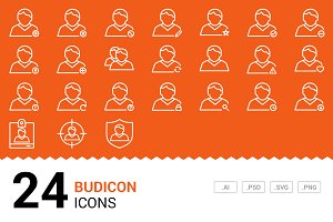 Budicon - Vector Line Icons